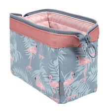 Portable Flamingo Flower Print Makeup Brushes Holder Bag Pouch Cases Dazzling 03