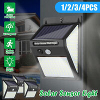 140 LED Solar Motion Sensor Lights Outdoor Garden Security Wall Lamp Floodlight
