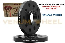 Pair Of 5x100 5x112 (17mm) Hub Centric Wheel Spacers 57.1 I.D  Audi A3 S4 S8