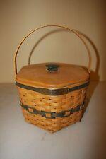 Longaberger 1997 Christmas Snowflake Basket W/ Fabric Liner & Protector - Mint