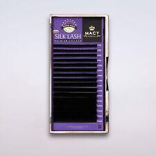 Extension de Cils Cils en Soie Cils en Soie B C D Curl 0,05 Jusqu'à 0,25mm Macy