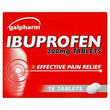 """IBUPROFHEN 16 200MG TABLETS For PAIN RELIEF - Migraine MAX Order Quantity """"2"""""""