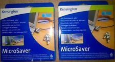 "2 x ""KENSINGTON"" MICRO SAVER CABLE LOCKS - NEW IN BOXES (SECURE YOUR LAPTOP ETC)"