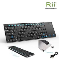 Rii k12+ Russian Layout Wireless Mini Keyboard for Windows Multimedia Control PC