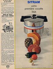 PUBLICITE ADVERTISING 094 1969 SITRAM votre première cocotte inox