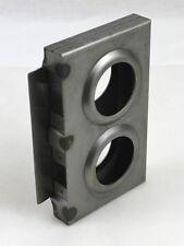 """Gate Lockbox Double Hole Weldable Steel 7 3/8"""" x 4 7/16"""" x 1"""" Unpainted"""
