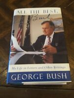 George H. W. Bush US President All The Best Signed Autograph Book, Personalized