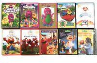 22 KIDS DVD LOT BARNEY, SESAME STREET, ELMO, BLUE'S CLUES, CARE BEARS, WIGGLES
