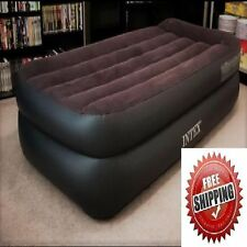 Twin Size Air Mattress INTEX Inflatable Raised Downy Airbed Bed Built In E-Pump