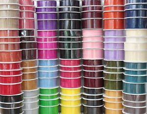 Organza Woven Edge Ribbon 30 Colours 20/50 Metre Reels 7mm 15mm 25mm 38mm