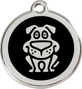 """Red Dingo """"Dog"""" Engraved Pet Dog & Cat ID Tag - Free Engraving - 11 Colours"""