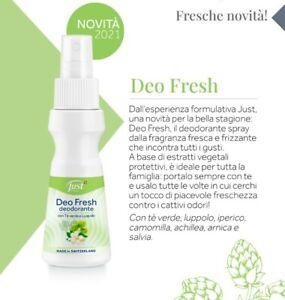 deodorante Just spray deo fresh novità tè verde tea the luppolo prodotti nuovi