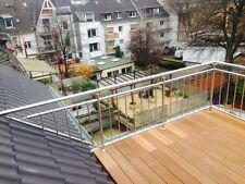 Balkon Geländer  Edelstahl  Geländer senkrechte Sprossen
