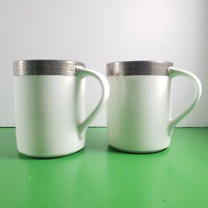 Blanc MIKASA Ciara cannel/é Mug Espresso Cup Porcelaine