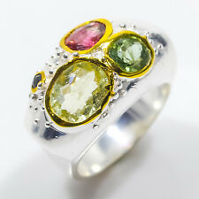 Ring Size 8 Natural Tourmaline 8ct+ 925 Sterling Silver Ring Size 8