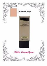 MAX FACTOR LASTING PERFORMANCE FOUNDATION 106 NATURAL BEIGE makeup