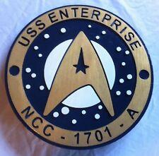 Star Trek  Enterprise 3D routed carved wood sign  bar prop sci fi Custom