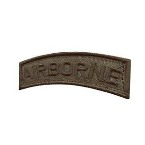 Airborne shoulder tab ranger green tactical US Army military parche hook patch