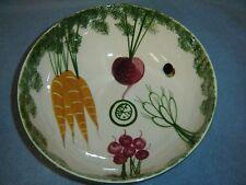 Los Angeles Potteries - Large Salad Bowl - Vegetable Motif - Vintage Collectible