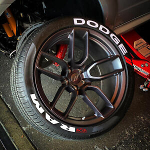 Permanent Tire Lettering Stickers DODGE Ram 15''16''17'18'19'20 (8 DECAL Kit)