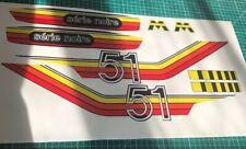 kit autocollants mbk 51 Motobecane série noir ref:152