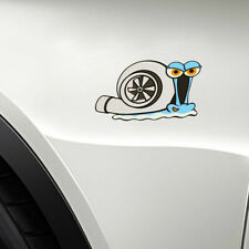 12*8CM Turbo Snail Decal Car Auto Styling Bumper Window Wall Sticker Accessories