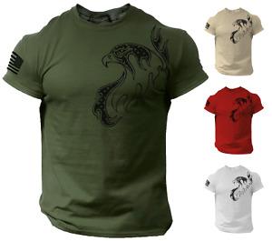 Eagle Flag USA Men T Shirt Patriotic Army Style Tee
