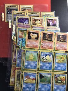(x56) Pokemon Binder Lot WOTC FOREIGN Vintage Cards Base Set Jungle Fossil Neo