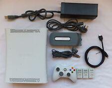 Blanc XBOX 360 Console 60 Go Paquet + 1 pad HDMI Lead & 1 Jeu Minecraft sur disque dur