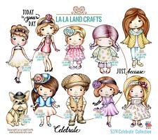 Celebrate Collection-La-La Land Crafts Rubber Stamp-Stamping Craft-Marci-Molli