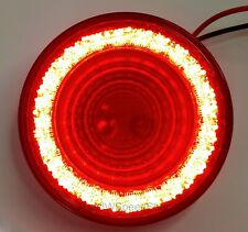 "4"" Round LED ""MIRAGE"" Stop, Turn & Tail Light - Red LED/Red Lens - S/T/T"