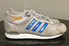 ADIDAS Men's 7.5 VINTAGE Suede ZX 700 Gray & Blue Running Shoes ~34 Excellent!