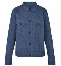 Louis Vuitton Virgil Abloh Monogram Denim Trucker Jacket 52 Blue Tags&receipt