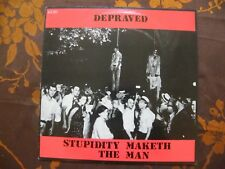 LP  DEPRAVED – Stupidity Maketh The Man / Cor Records GURT 14  (1986)  UK