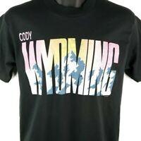 Cody Wyoming T Shirt Vintage 90s Mountain Range Made In USA Size Medium