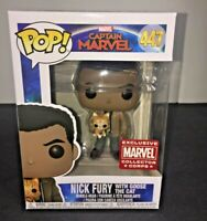 Funko Pop 447 Nick Fury With Goose Cat Captain Marvel Collector Corps Exclusive