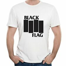 BLACK FLAG BAND MY RULES HARDCORE PUNK ROCK INDIE DESIGNER UNISEX T SHIRT XL .