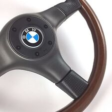 Nardi línea negra volante de Madera de Caoba. Original. BMW E30 E36 E24 magnífico!