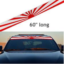 "60"" Car Rising Sun Japan Daily Low Strip Printed Windshield Vinyl Sticker Decal"