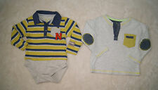 Cool Club Boys Set Of 2 Long Sleeved T-Shirts Tops Size 9-12 Months