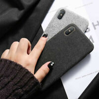 3D Fabric Cloth Case Shockproof Leather Cover For iPhone XS XR X 6s 7 8 Plus