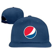 Unisex Pepsi Logo Adjustable Snapback Baseball Hat Black One Size