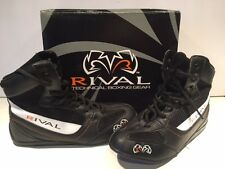 NEW in box RIVAL Low Cut Boxing Boots Shoes Top - Black White Size 7