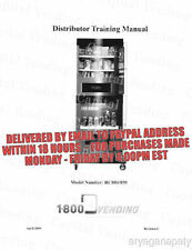 1-800 VENDING RC800-850 Distributor Training Manual (33 pages) PDF sent by email