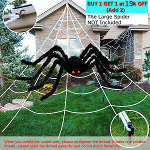 UK Halloween Giant Spiders Web Net Decoration Cobweb Party Outdoor Large 16.4ft
