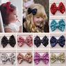 Cute Kids Girls Baby Glitter Shiny Sequin Bowknot Hair Clip Hair Bow Hairpin 1pc