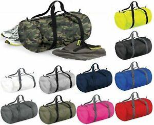 BagBase Packaway Barrel Bag Foldable Holdall Sports Gym Travel Duffle