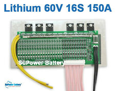 60V 67.2V 16S 150A Lithium ion Li-ion Li-Po LiPo Polymer Battery BMS PCB System