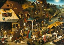 Painting on a tree by the artist Pieter Bruegel - 60x45 cm. A beautiful copy.