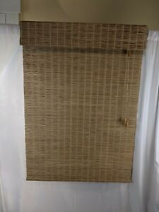 """Smith & Noble Woven Wood Shades Blinds 35.25"""" x 72"""" Set of 2"""